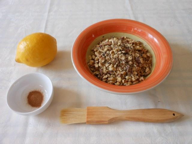 Lemon, Walnuts, Water and Cinnamon