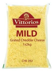 CHE092: Vittorio's Grated Cheddar Cheese-1x2kg