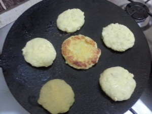 Take a flat pan again to fry patties and fry them until they get brown. Make them brown from both side