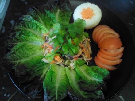 Vietnamese shredded chicken salad with rice